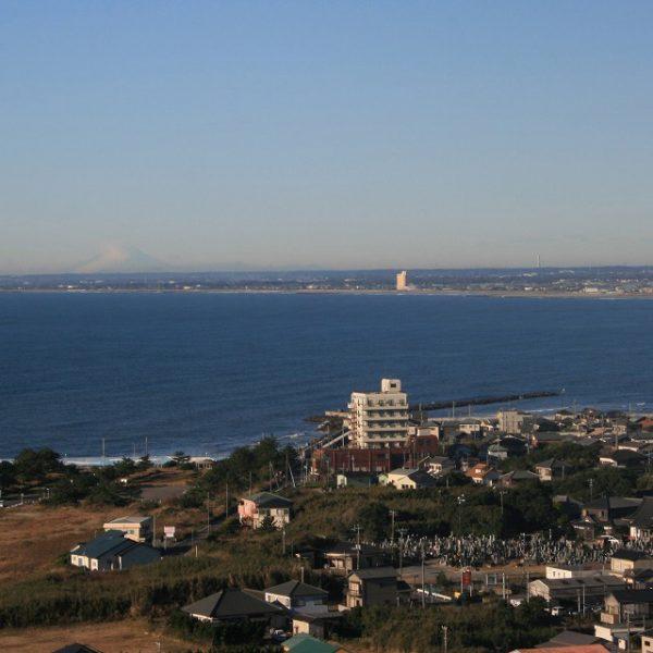 IMG_0142朝の九十九里 浜富士を望む